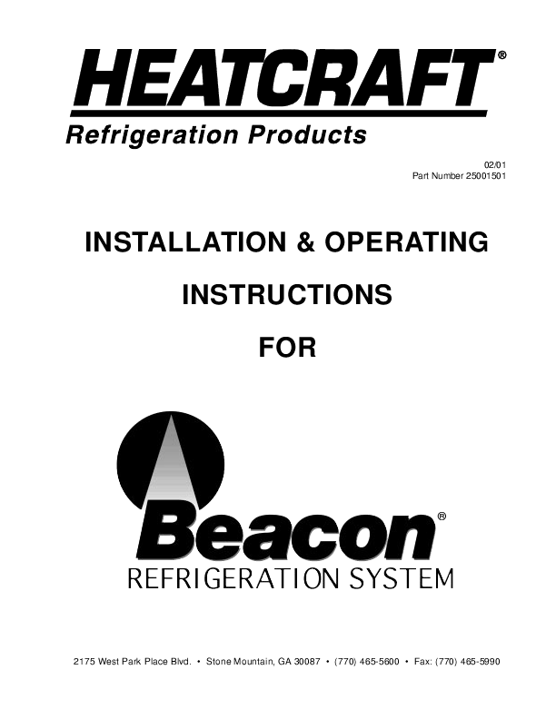 Refrigeration: Heatcraft Refrigeration Manual