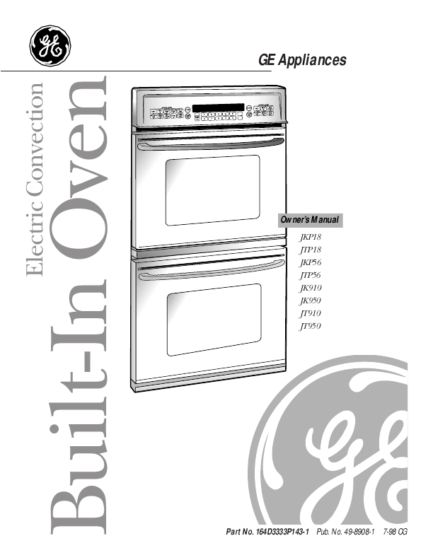 Ge Oven: Ge Oven Owner''s Manual