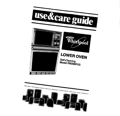 Whirlpool Oven: Operating Instructions For Whirlpool Oven