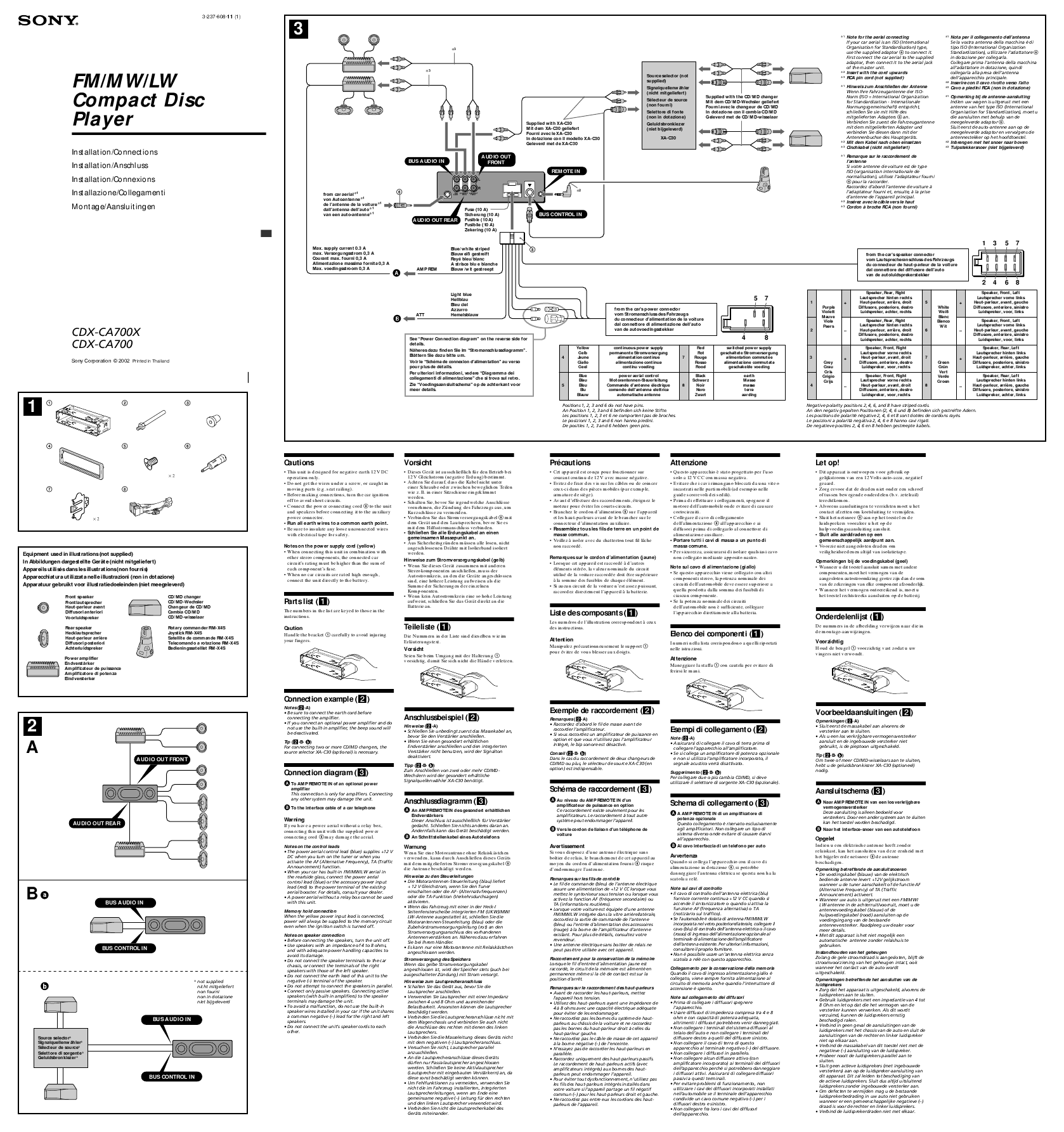 sony compact cd player wiring diagram