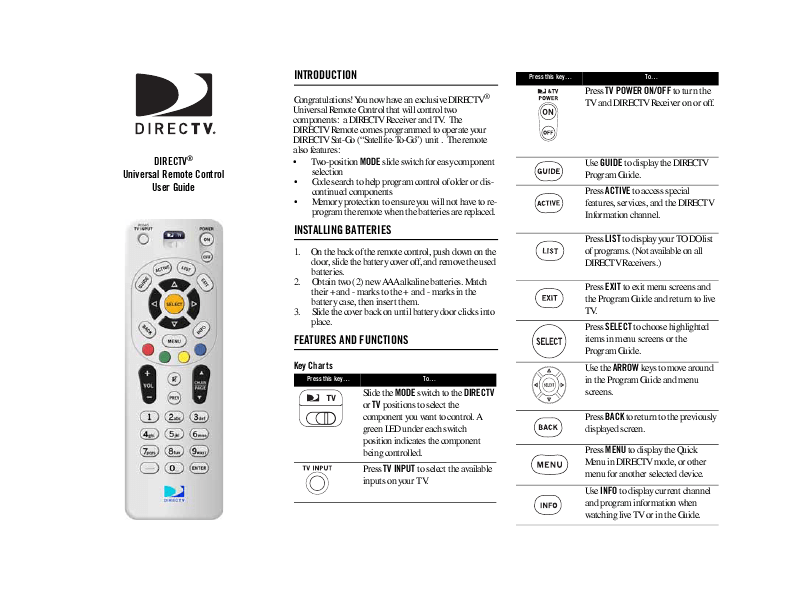 How To Program A Directv Remote To A Magnavox Tv