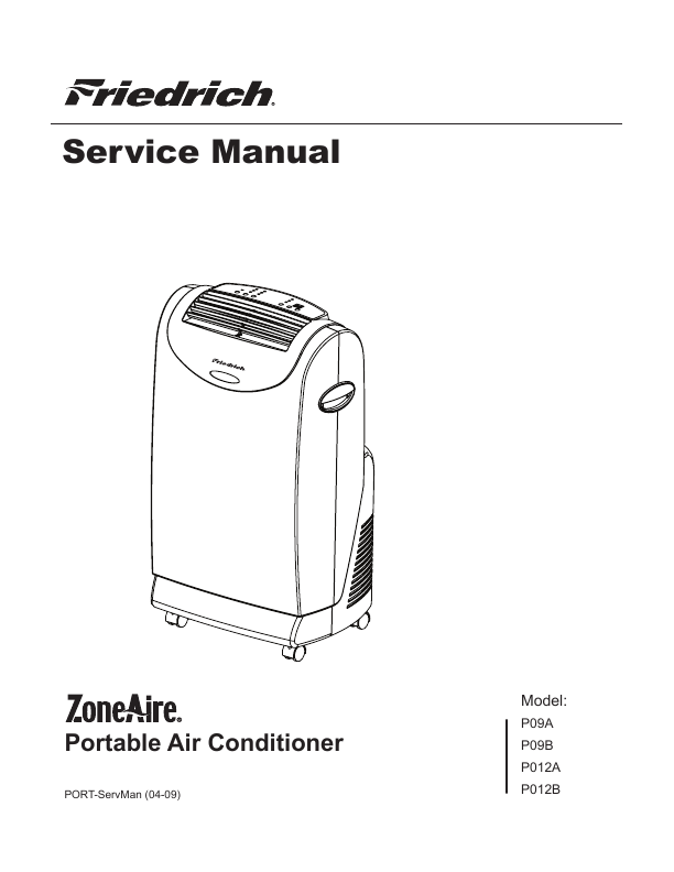 Friedrich Air Conditioner User Manual