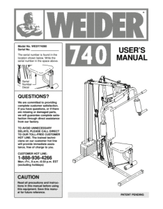 Weider wesy home gym also search user manuals manualsonline rh