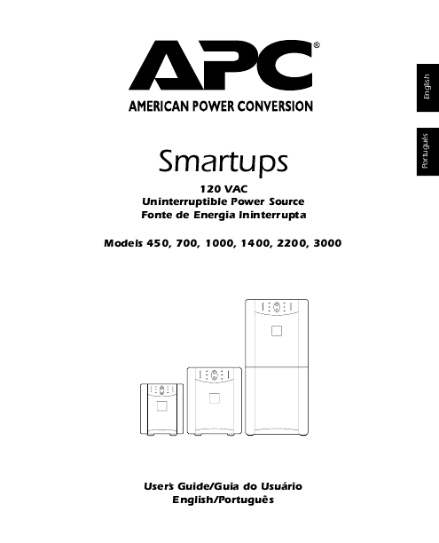 APC Power Supply Smart-UPS 1400 User's Guide