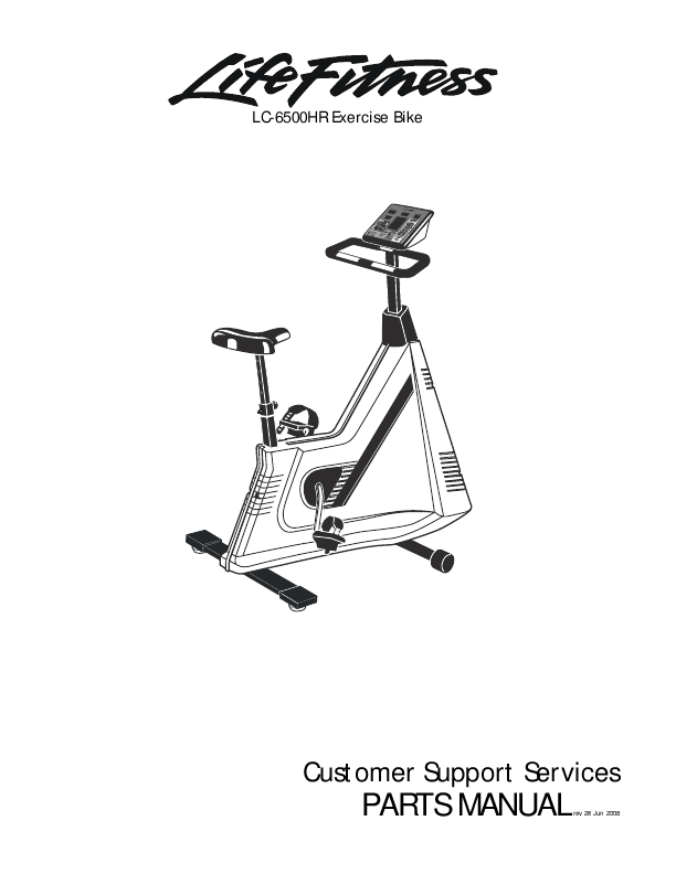 Life Fitness Exercise Bike Parts Manual