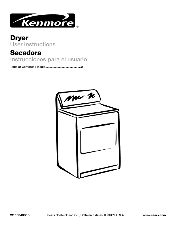 Search kenmore electric dryer model 965... User Manuals