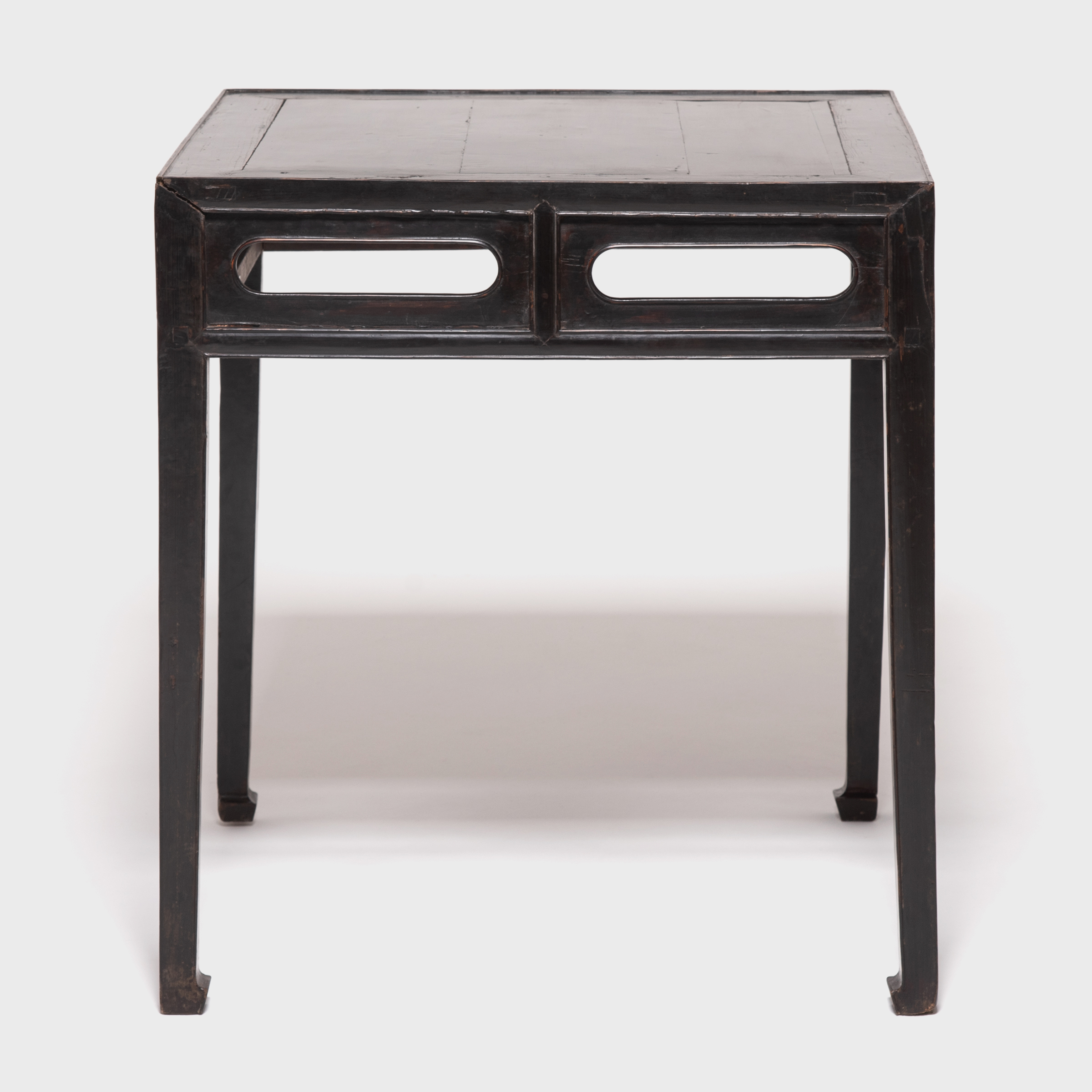 Black Lacquer Square Table With Hoof Feet Browse Or Buy At