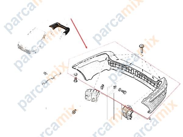 7701471597 Arka Tampon ORJINAL Yedek Parça Fiyatı