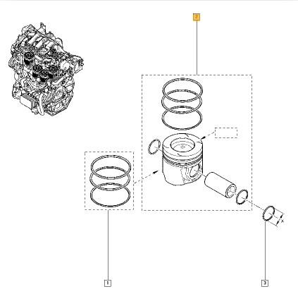 120A10724R Piston, Segman ORJINAL Yedek Parça Fiyatı