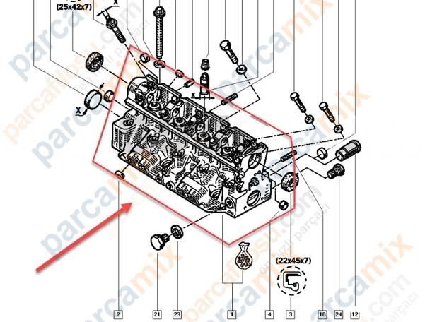 7701468962 Silindir Kapak ORJINAL Yedek Parça Fiyatı