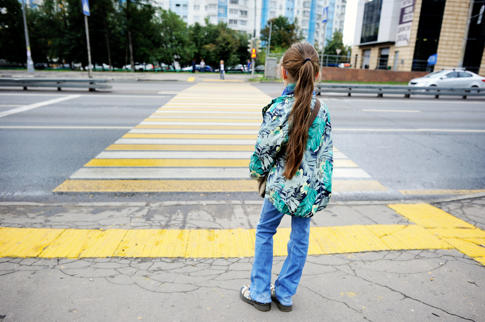 Image result for child crossing road