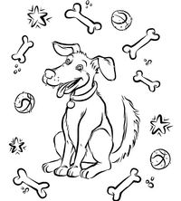 Free Dog Coloring Page