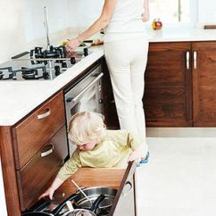 Sharp Kitchen Knives Rv Table Babyproofing 101: 10 Household Safety Hazards