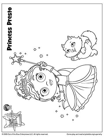 SUPER WHY Coloring Book Pages from PBS