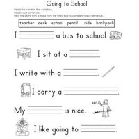 Fill In The Blank Worksheets For Kindergarten - fill in ...