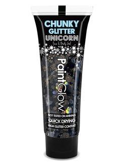 Chunky Glitter Body Gel - Black Enchantress 13ml