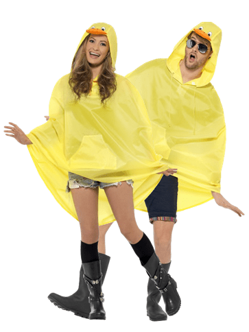 Unisex Duck Party Poncho Adult Costume Party Delights