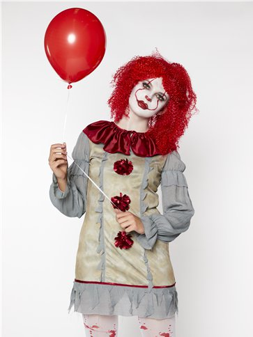Vintage Clown Lady  Adult Costume  Party Delights