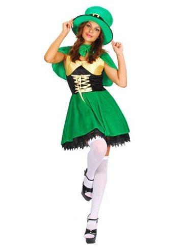 St Patricks Lady Leprechaun Adult Costume Party Delights