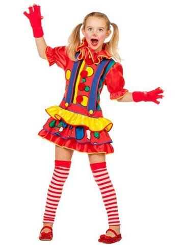 Bubbles Clown Girl  Child Costume  Party Delights