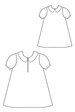 Blank Slate A-Line A La Mode Dress Downloadable Pattern