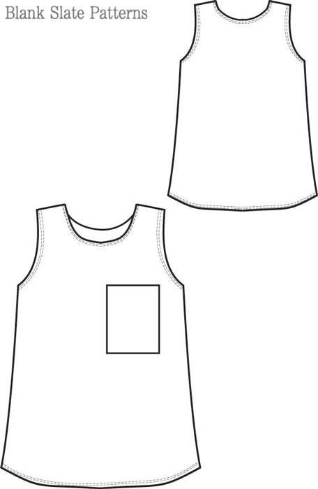 Blank Slate Blank Tank Child's shirt Downloadable Pattern