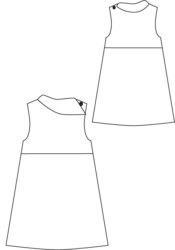 Blank Slate Fresh Bloom Frock- Child's Dress Downloadable