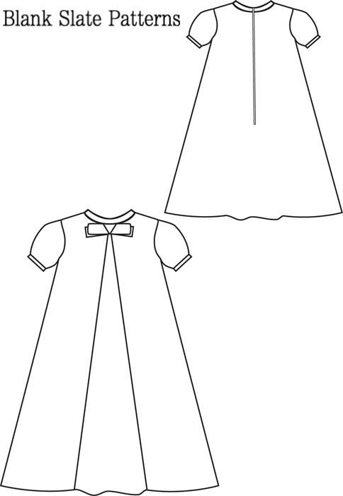 Blank Slate LIttle Bow Pleat Dress Child's Dress