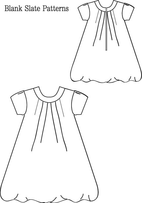 Blank Slate Tiny Bubbles Dress Child's Dress Downloadable