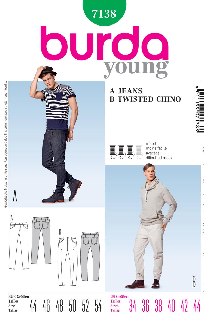 Mens Jeans Pattern : jeans, pattern, Burda, Men's, Jeans