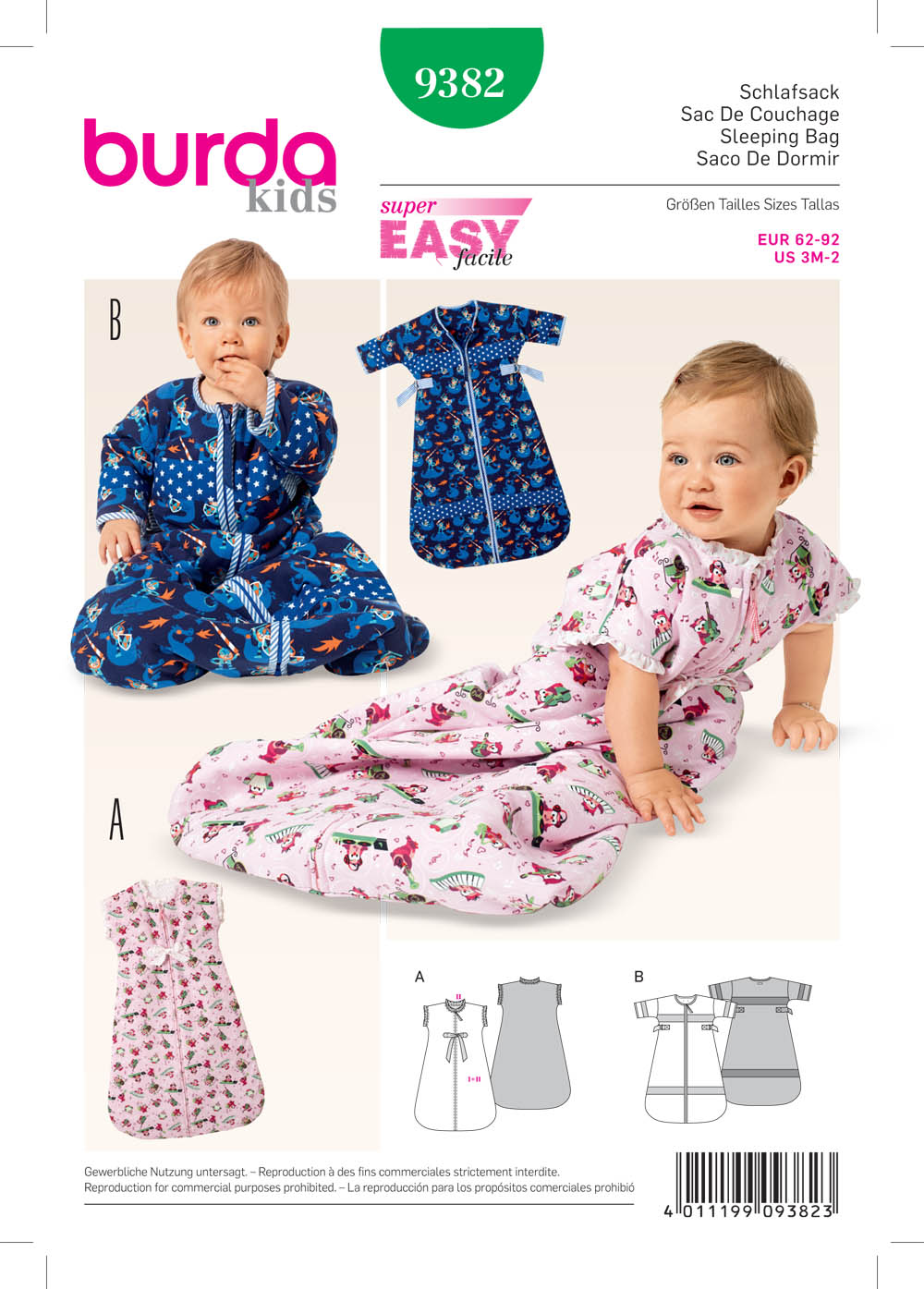 Baby Sleeping Bag Pattern : sleeping, pattern, Burda, Babies', Sleeping