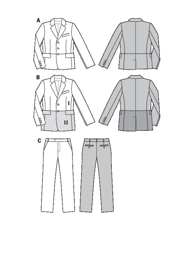 Running Mens Suit Sewing Pattern