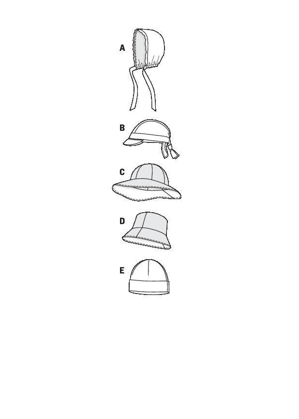 Burda 9496 hats