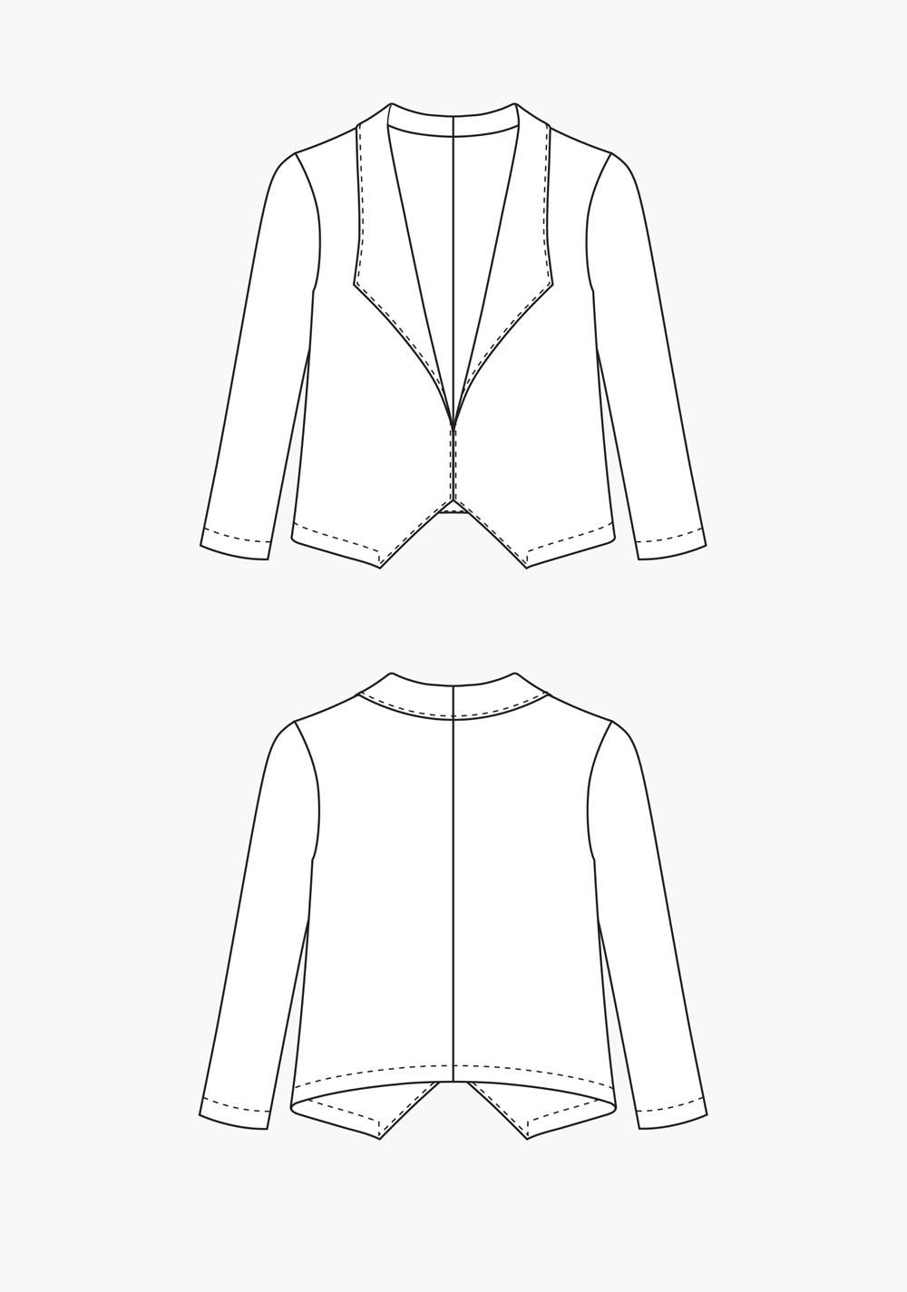 Grainline Studio 14001 Morris Blazer Downloadable Pattern