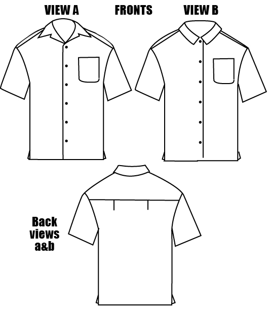 Islander Sewing Systems 208 Men's Islander Shirt Pattern