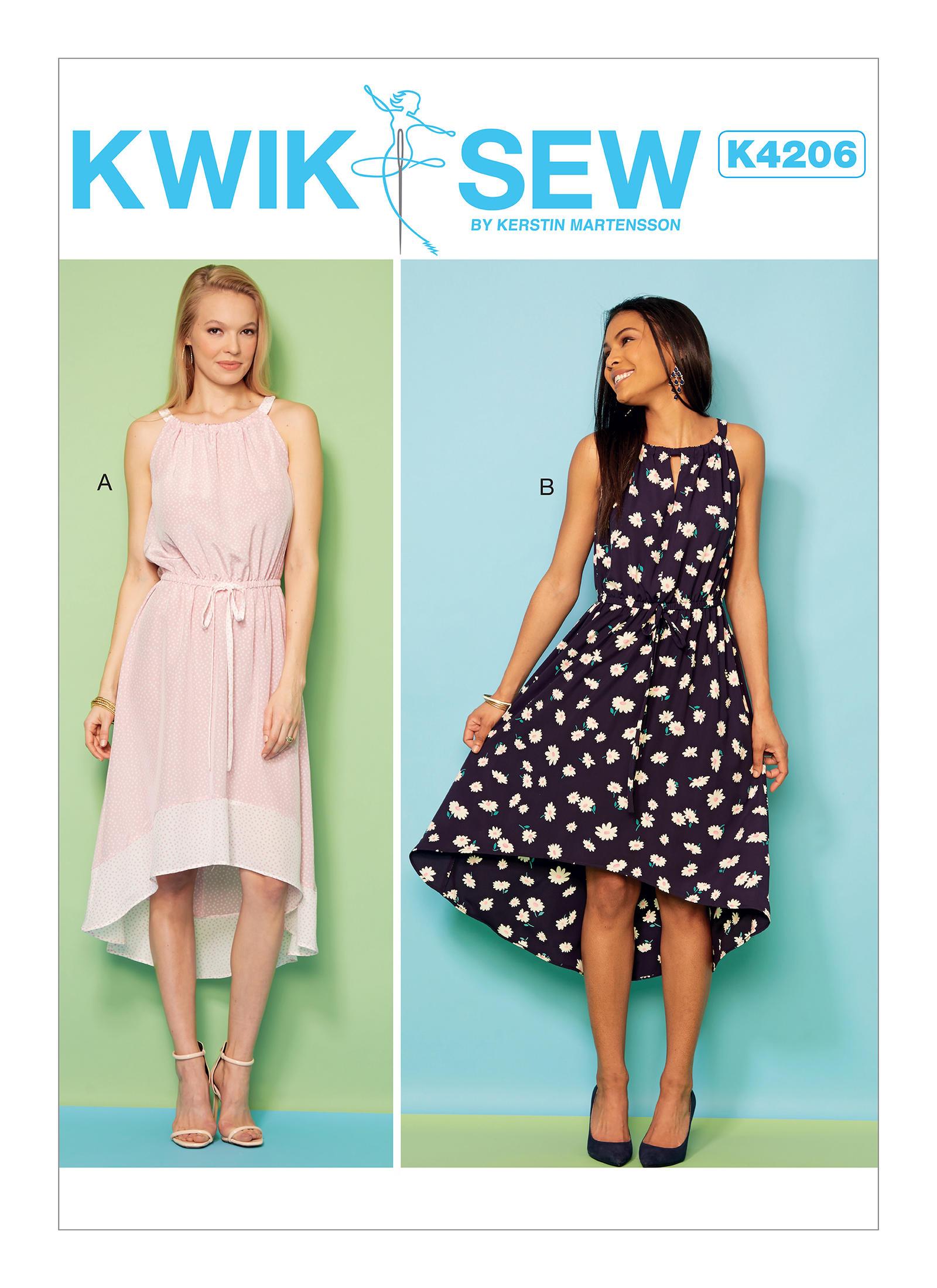 Hi Lo Dress Patterns : dress, patterns, Dress, Sewing, Pattern