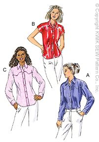Western Shirt Patterns For Women's : western, shirt, patterns, women's, Fitted, Western-Style, Shirt
