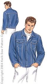 Men Jacket Pattern : jacket, pattern, Jacket