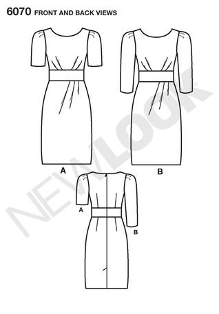 New Look 6070 Workroom from Project Runway Misses' Dresses