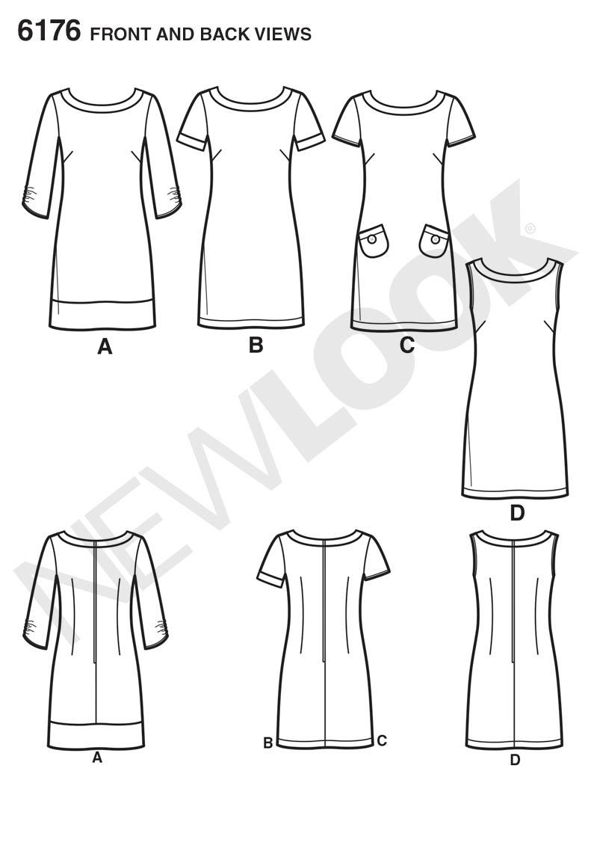 New Look 6176 Misses Dress