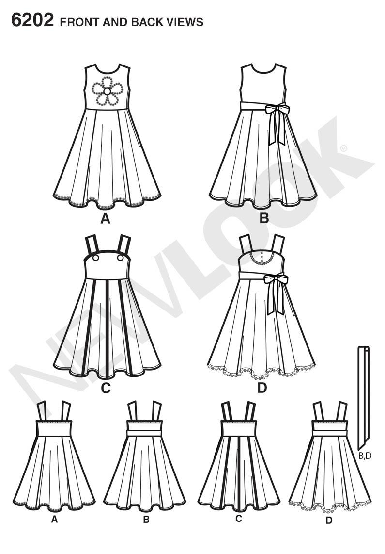New Look 6202 Children's Dress