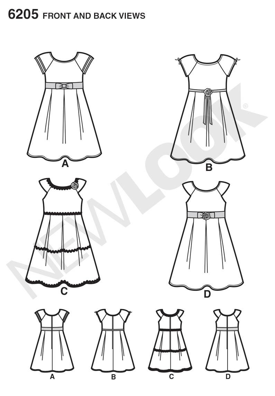 New Look 6205 Children's Dress