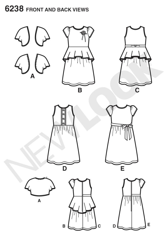 New Look 6238 Child's Dress and Knit Bolero