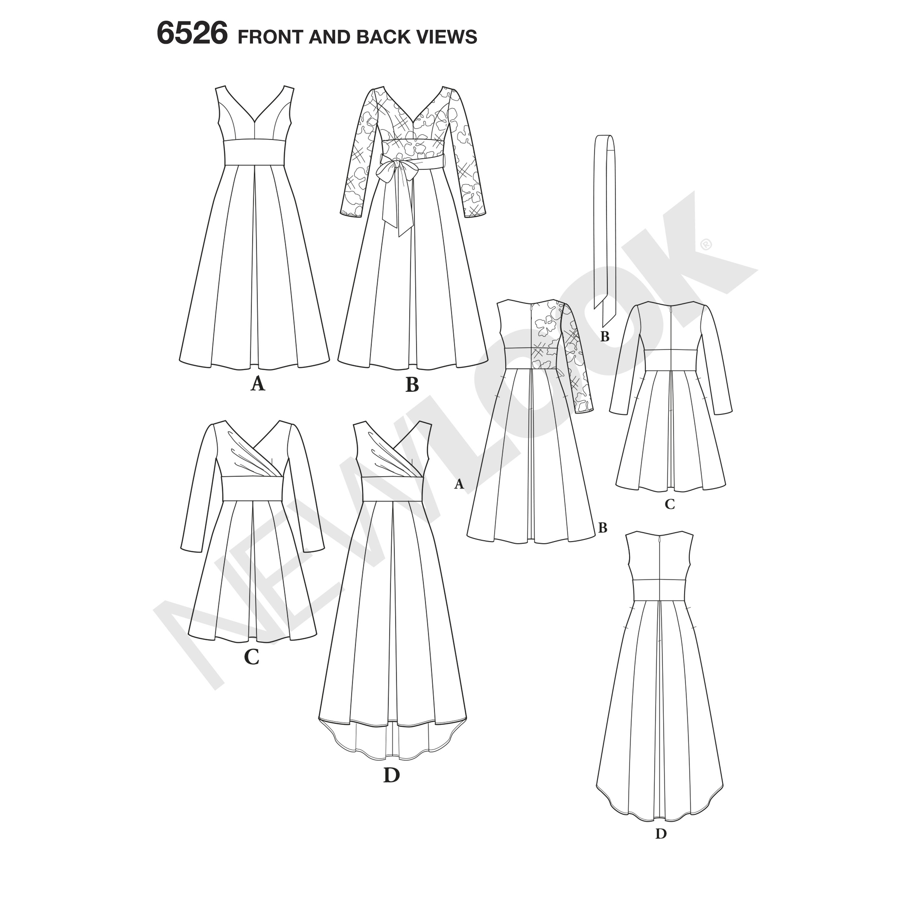 New Look New Look Pattern 6526 Misses' Dress with Bodice