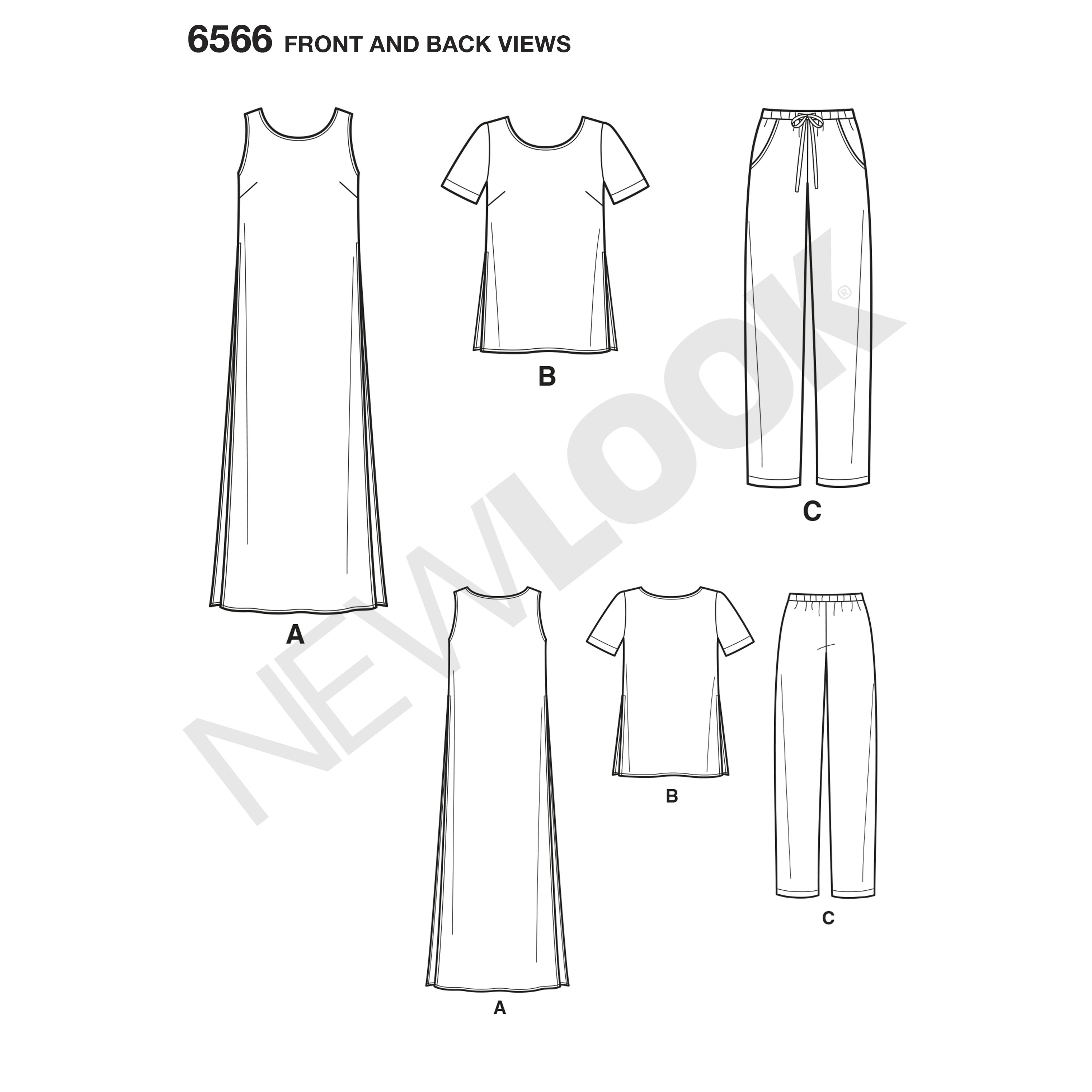 New Look New Look Pattern Misses Tunic Top And Pants