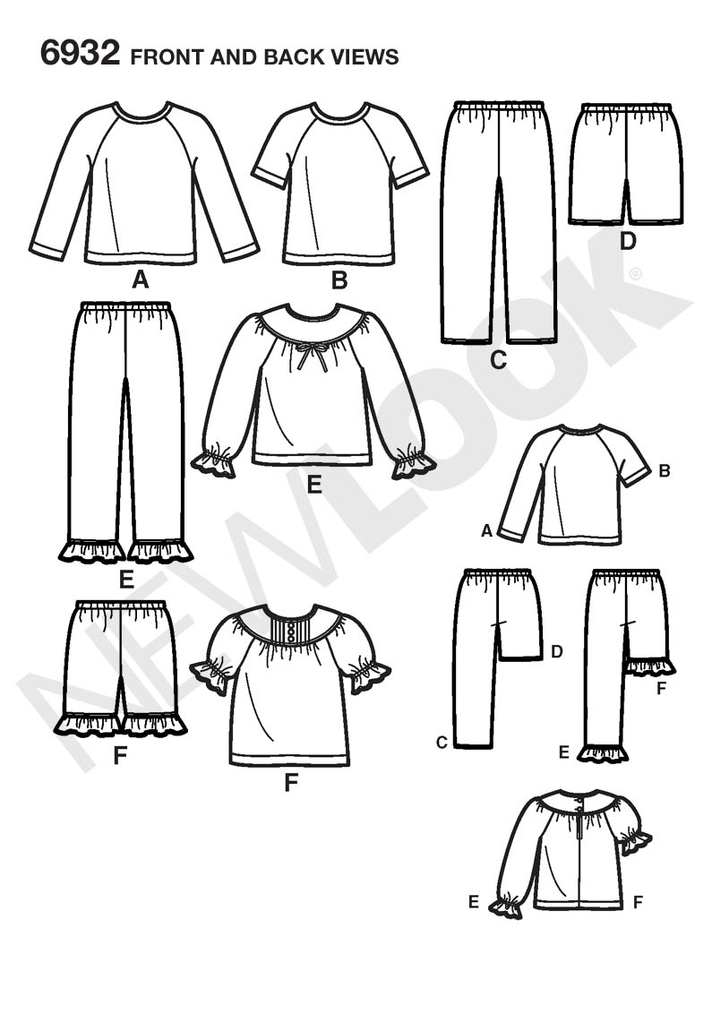 New Look 6932 sewing pattern