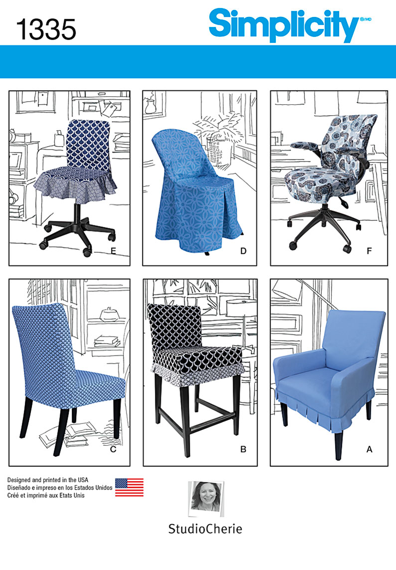 Chair Cover Patterns Simplicity 1335 Chair Covers For Ikea And Realspace Chairs
