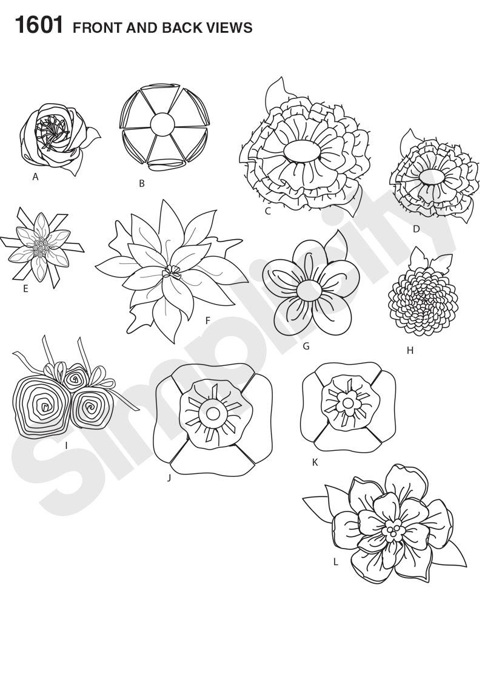 Simplicity 1601 Fabric Flowers