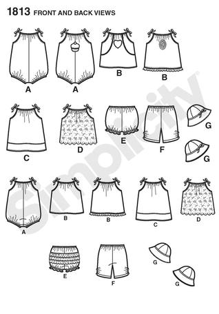 Simplicity 1813 Babies' Dress & Separates sewing pattern