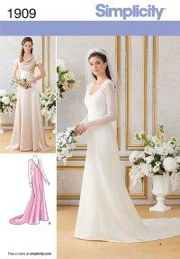 ROYAL WEDDING BRIDESMAID BRIDAL FORMAL GOWN DRESS SEWING ...